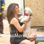 Tejaswini Pandit With Puppy