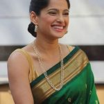 Priaya Bapat On Green Saree