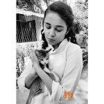 Shivani Rangolewith cat