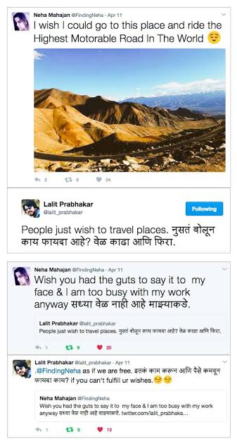 Twitter War Lalit and Neha 3