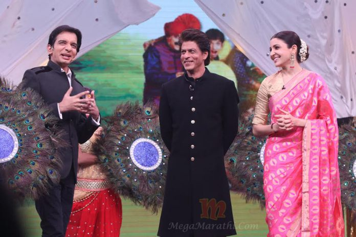 Bollywood King Shahrukh Khan and Anushka's Entry in Chala Hawa Yeu Dya !