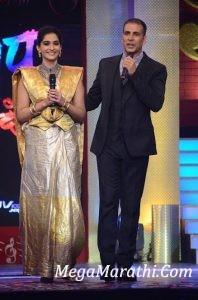 Akshay Kumar and Sonam Kapoor in Sa Re Ga Ma Pa Marathi