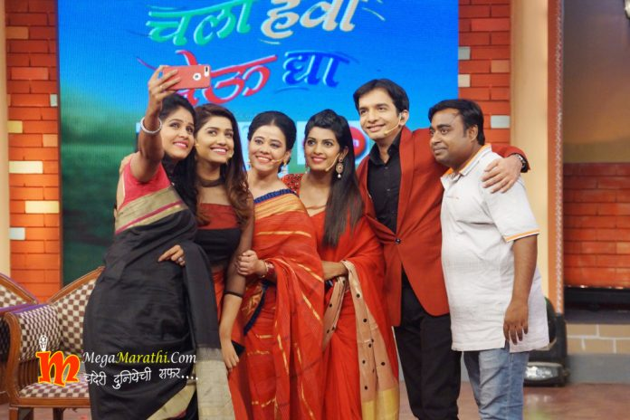 Leading Actresses From Zee Marathi Make Their Presence on the Sets of Chala Hawa Yeu Dya