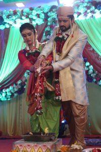 Anu and Siddharth Saptpadi